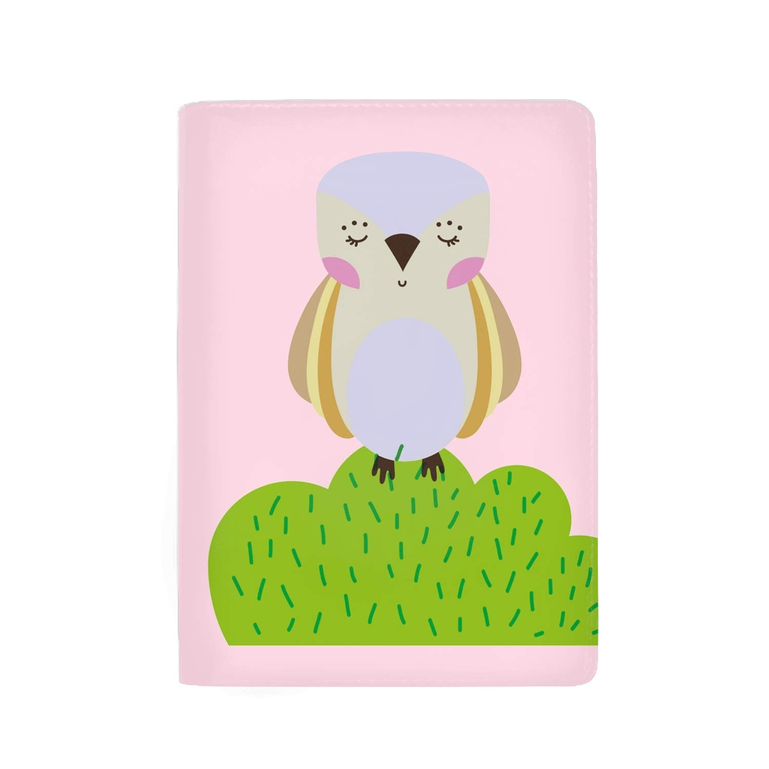 Owl Passport Holder Cover Wallet RFID Blocking Leather Card Case Travel Document Organizer