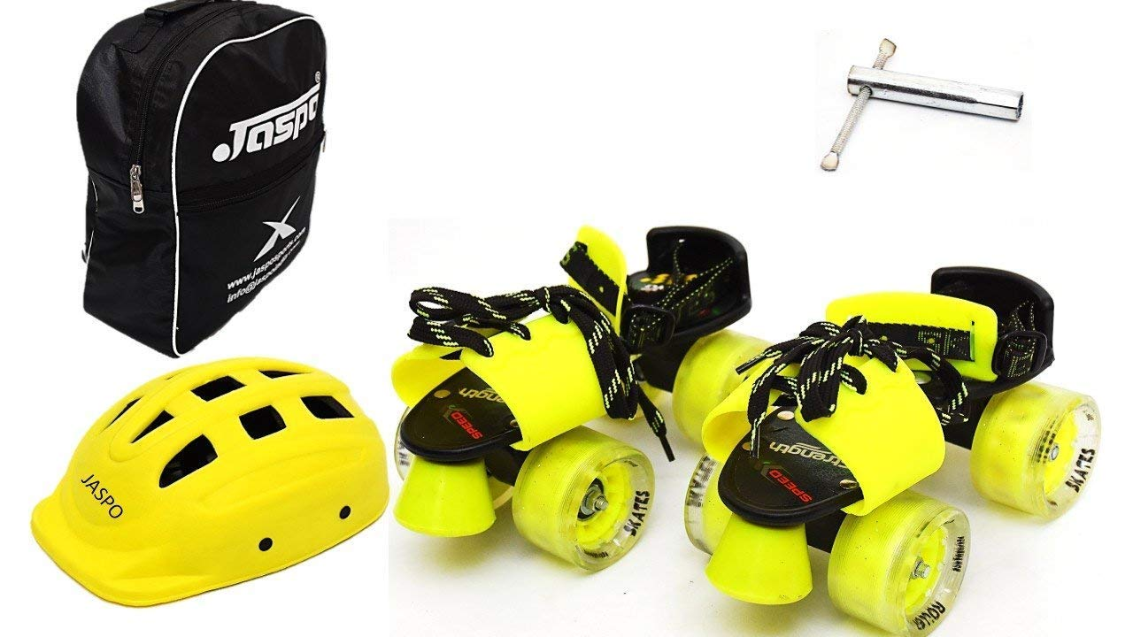 Jaspo Wicked Wheels Dual Junior Adjustable Roller Skates Combo Suitable for Age Group Upto 5 Years