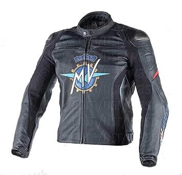 MOTOGPGEARS Chaqueta de cuero negra Mv Agusta Motorcycle ...