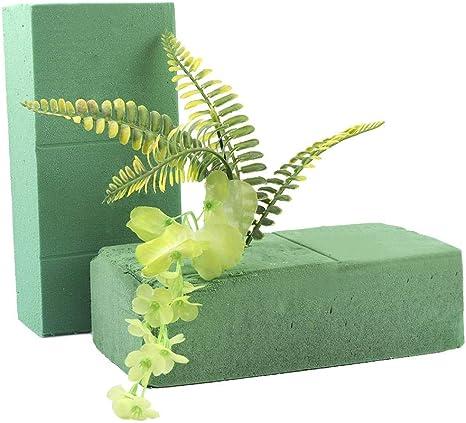 6PCS Floral Foam Blocks Green Fresh Floral Bricks Applied Dry or Wet DIY Crafts for Flower Wedding Florist Fresh Flower Arranging Design