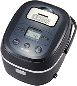 TIGER JBX-A Black Micom Rice Cooker With Healthy Tacook Cooking Plate (5.5 cup)
