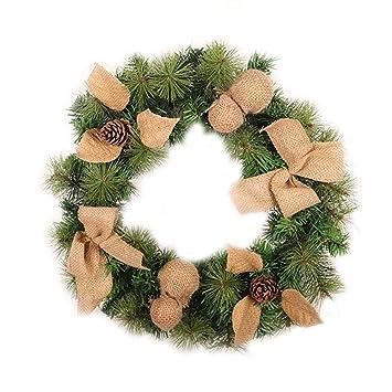 Weihnachtsdeko Für Adventskranz.Amazon De Weihnachtskranz Diy Girlande Tannengirlande 45cm