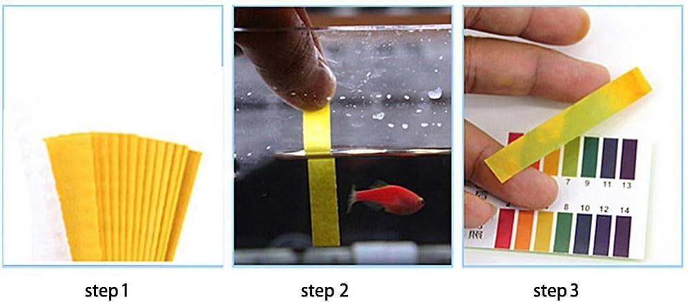 Schwei/ß Boden prom-note PH Teststreifen Indikator Testen Der Papierstreifen Im Aquarium Bereich 1-14 Zum Testen Von Wasser Urin Schwimmbad Und Spa-Behandlung Speichel Saft