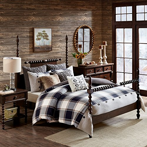 Urban Cabin Cotton Jacquard Comforter Set Brown Queen