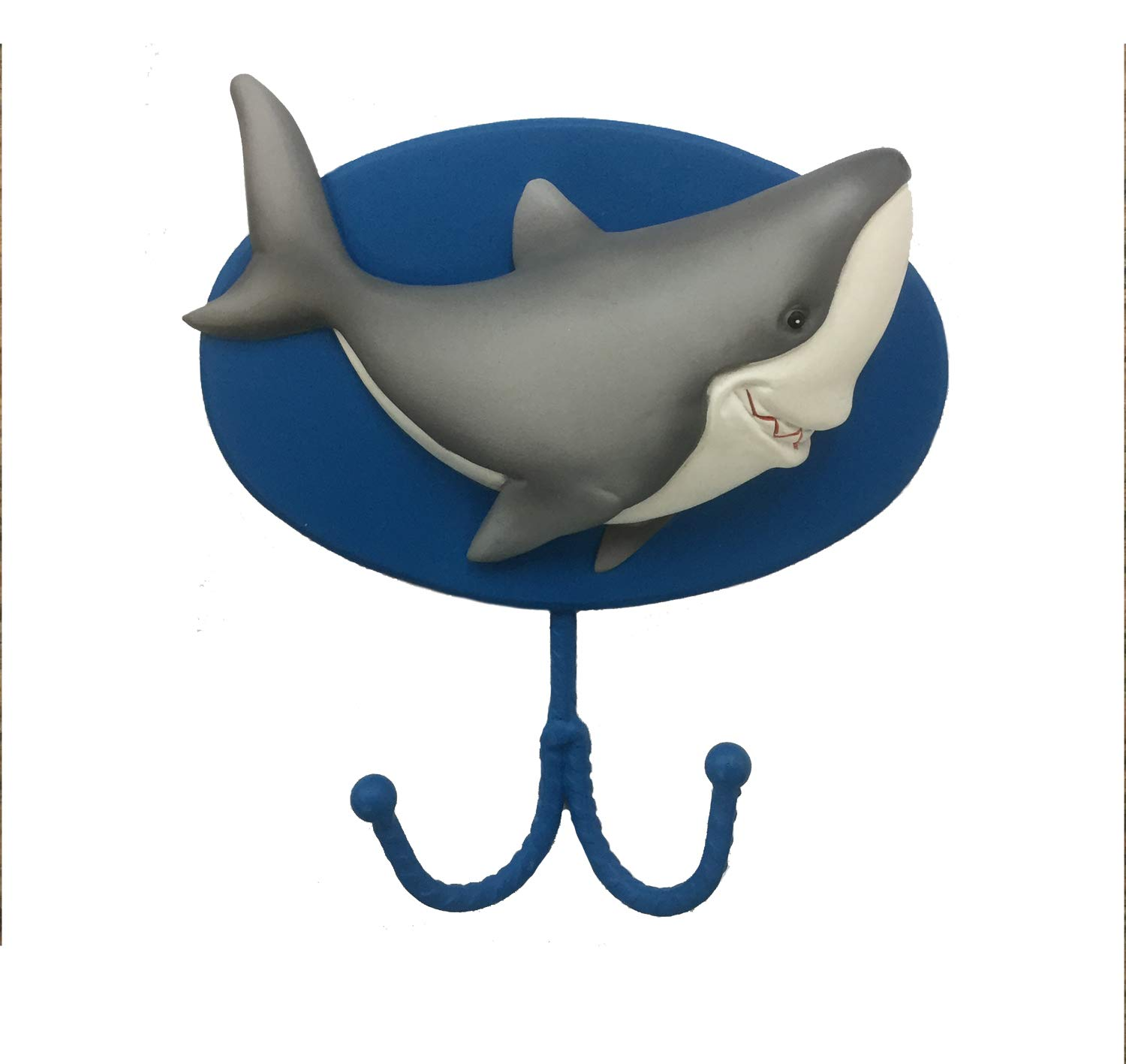 Borders Unlimited Fish 'N Sharks Towel or Coat/Bookbag Wall Hook, Multi