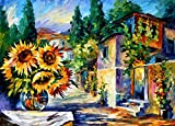 GREEK NOON (48 x 72) is a massive Original Oil Painting on Canvas by Leonid Afremov. Looking at this painting we see a little town full of life and color. In GREEK NOON there are no strict lines dividing space into housing estates, no strict rows of ...