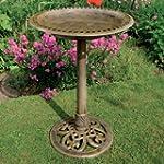 Victorian Bronze Pedestal Bird Bath