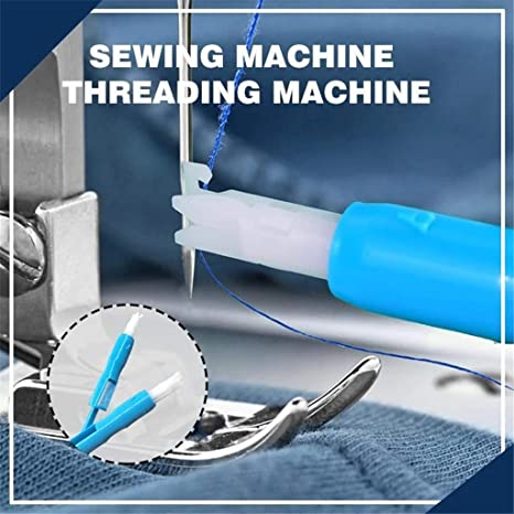 Blue 3 Pieces Sewing Machine Automatic Threader Quick Threading Tool for Sewing Machine Holds Needles Firmly Sewing Machine Auto Threader Needle Changer