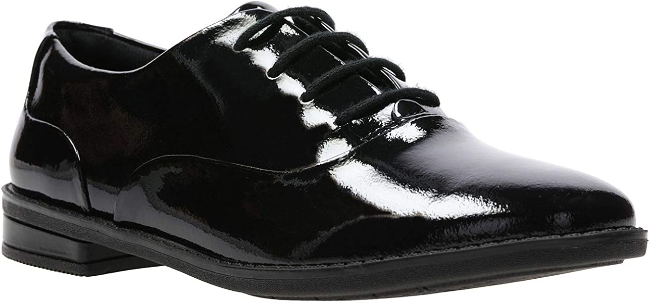 Drew Star Girls Clarks Lace Up Brogue School Shoes