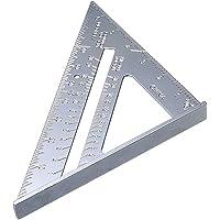 7 Inch Aluminiumlegering Driehoek Liniaal, Vierkante gradenboog Hoge Precisie Meten, Imperial Stop Hoek, Tool voor…