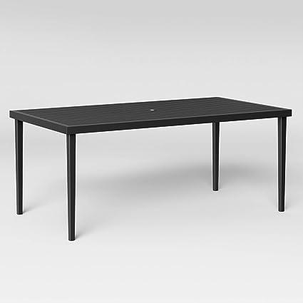 Fairmont Steel Rectangular Patio Dining Table - Amazon.com : Fairmont Steel Rectangular Patio Dining Table : Garden