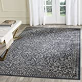 Safavieh Vintage Premium Collection VTG175-7330 Transitional Oriental Medallion Blue and Light Grey Distressed Silky Viscose Area Rug (2′ x 3′) Review
