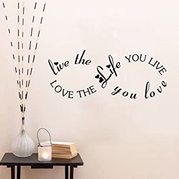 Amazoncom Aiwall 9298 Love The Life You Live Wall Quote Decal