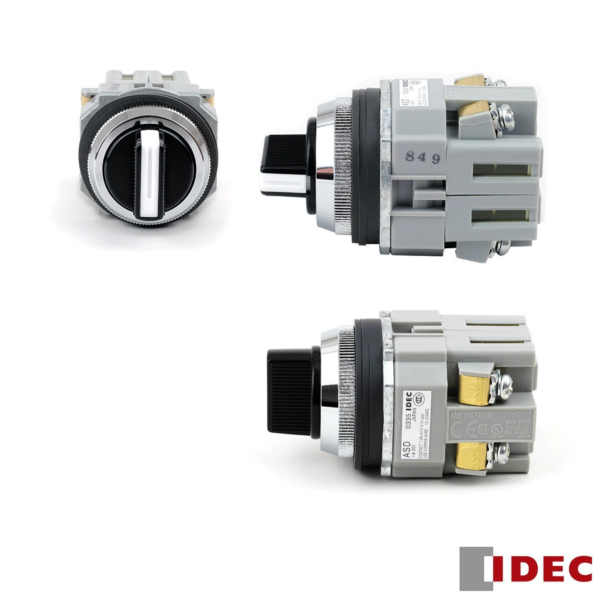 Idec Asd3320n Switch Selector Dpst 2no 10a 250v 8 Pin Relay Wiring Diagram Industrial Scientific