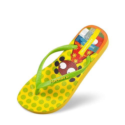 9c41811cd Hotmarzz Kids Flip Flops Cartoon Pattern Colorful Beach Sandals Slip-On  Slippers Size 1 M