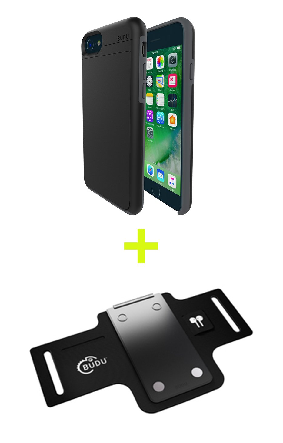 Easily Change Accessories 6s 8 with Car Vent Mount Modular Phone Case with Removable Backplate 8 BUDU Modular Phone Case Bundle for iPhone 6 7 BUDU Case 6s 7 BUDU iPhone Case for 6