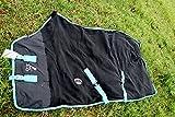 Challenger Horsewear 60'' Horse Sheet Polar Fleece Cooler Exercise Blanket Wicks Moisture Turquoise 4350