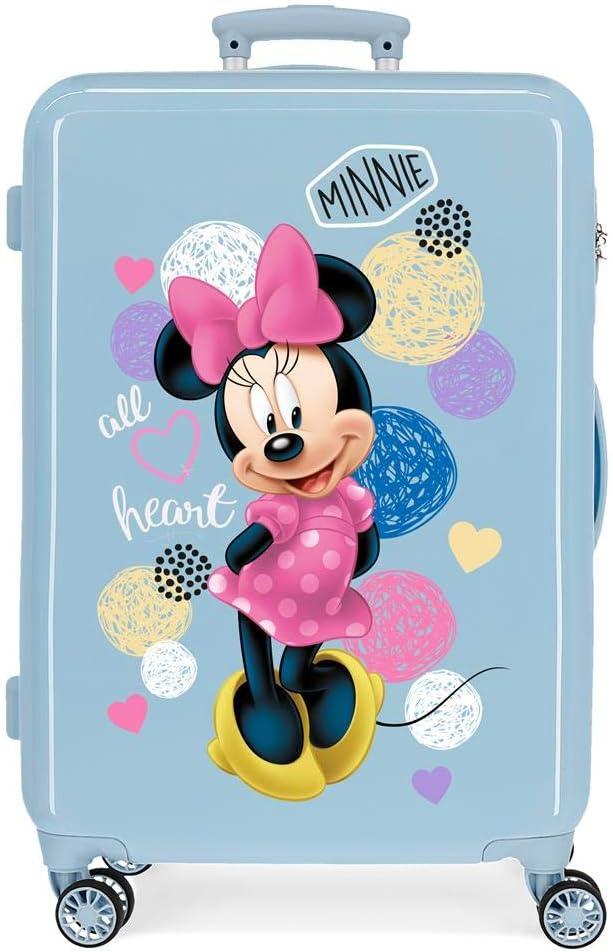 Maleta Mediana Enjoy Minnie Heart rígida 65cm