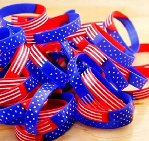 American Flag Silicone Bracelets-4th of July (10)