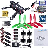 SunFounder 250 FPV Quadcopter Drone Frame Kit CC3D ESC Simon 12A Motor MT2204 Carbon Fiber Racing Flying 4-Axis Propellers Battery Balance Charger for Openpilot EMAX Lumenier QAV250