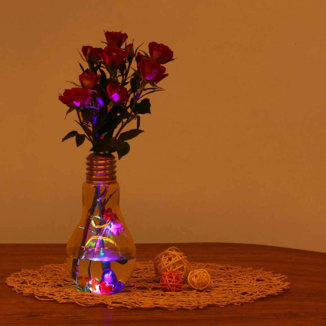 Transer Glowing Light Bulb Shape Stand Plant Flower Vase (Gold) by Transer (Image #4)