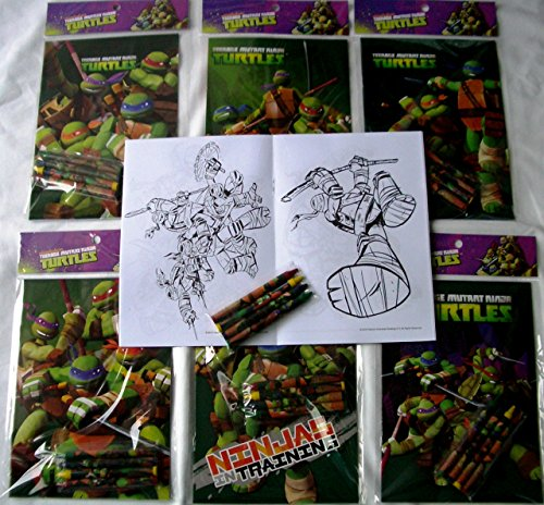 ninja coloring book party favors - 8