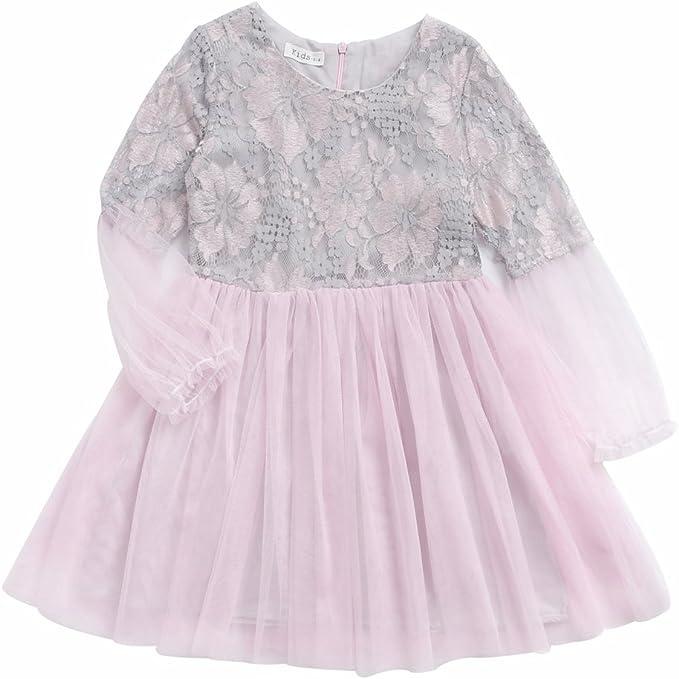 Sanlutoz Sanlutoz Madchen Tutu Kleid Rosa Tull Prinzessin Kinder Kleidung Hochzeit Party Urlaub Kleider Amazon De Bekleidung