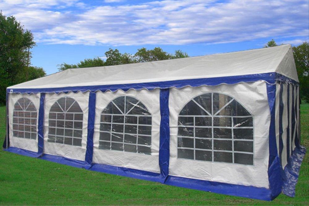 Amazon.com  26u0027x16u0027 PE Party Tent Blue/White - Heavy Duty Wedding Canopy Carport - with Storage Bags - By DELTA Canopies  Storage Sheds  Garden u0026 Outdoor & Amazon.com : 26u0027x16u0027 PE Party Tent Blue/White - Heavy Duty Wedding ...