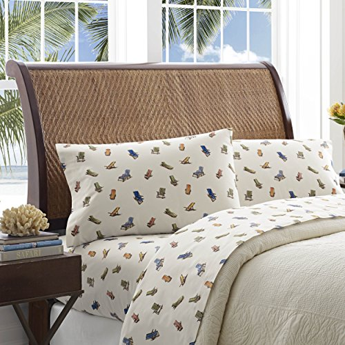 Tommy Bahama Beach Chairs Sheet Set, Queen, Multi (Chairs Tommy Bahama Dining)
