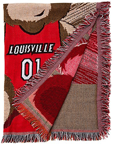 (The Northwest Company Officially Licensed NCAA Louisville Cardinals Half Court Woven Jacquard Baby Throw Blanket, 36