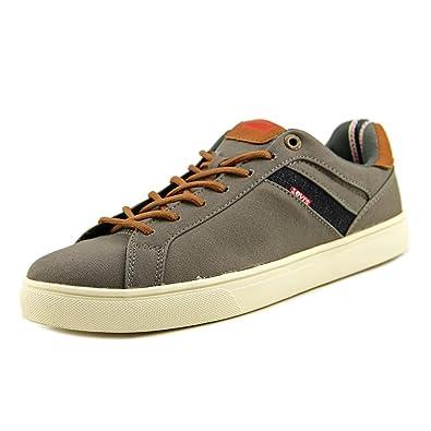 Levi's? Shoes Men's Henry Canvas PU Charcoal/Tan Sneaker 9.5 ...