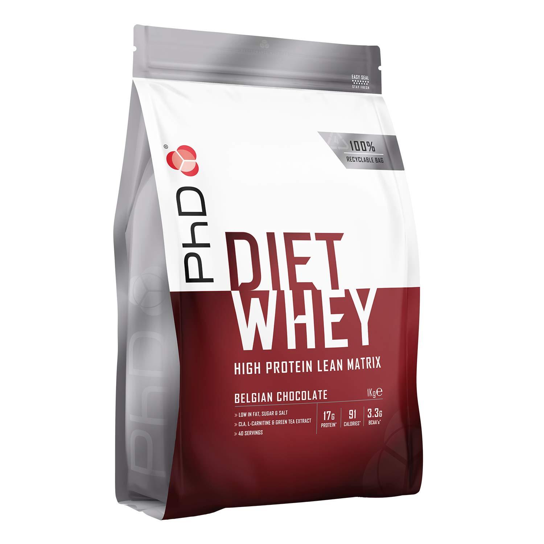 PhD Diet Whey 1kg Belgian Chocolate