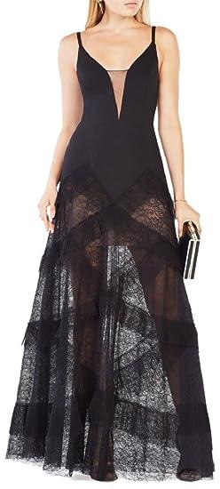 Amazon Bcbgmaxazria Bcbg Maxazria Avaline Pleated Black Gown