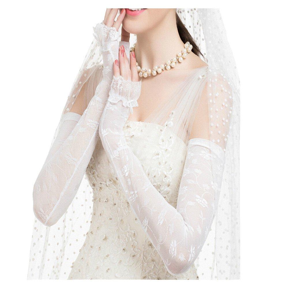 Maitose™ UV Protective Wedding dress Long gloves White One Size