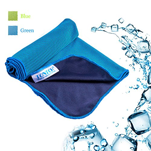 Sports Cooling Towel,Coolcore Honeycob Fabric Chilly Pad Workout Towel, Water Active,Fast Drying,Super Absorbent,Instant Cooling, Normal Size 31.5″x12″,Blue