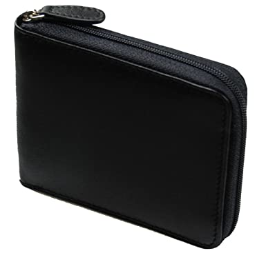 309d1c982d2b Image Unavailable. Image not available for. Color: Castello Italian Secure  Soft Leather RFID Zip Around Wallet