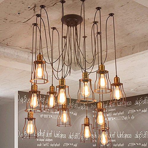 Aisini Edison Multiple Ajustable DIY 12 head Ceiling Spider Lamp Light Pendant Lighting Chandelier Modern Chic Industrial Dining