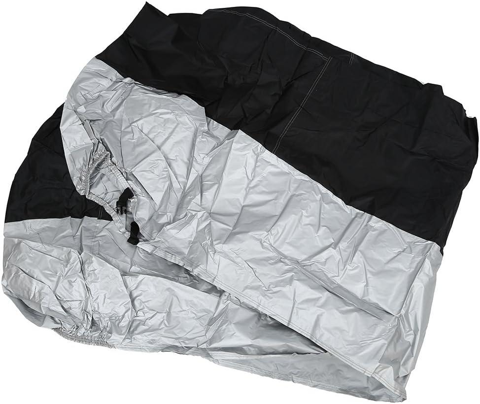 TOPSALE Funda Protector de Polyester Cubierta para Moto XXXL Negro y Plateado