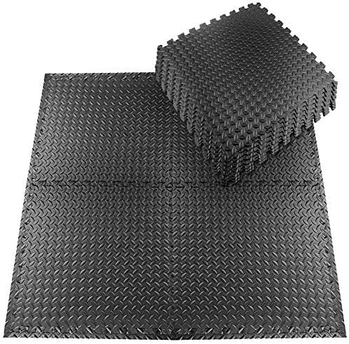 StillCool Puzzle Exercise Mat, 20pcs EVA Interlocking Foam Workout Mat with Border for Gyms, Yoga, Outdoor Workouts, Kids