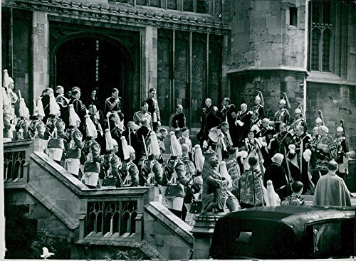 "Vintage photo of The royal couple attends the""Garter Service"" in St. George39;s Chapel"
