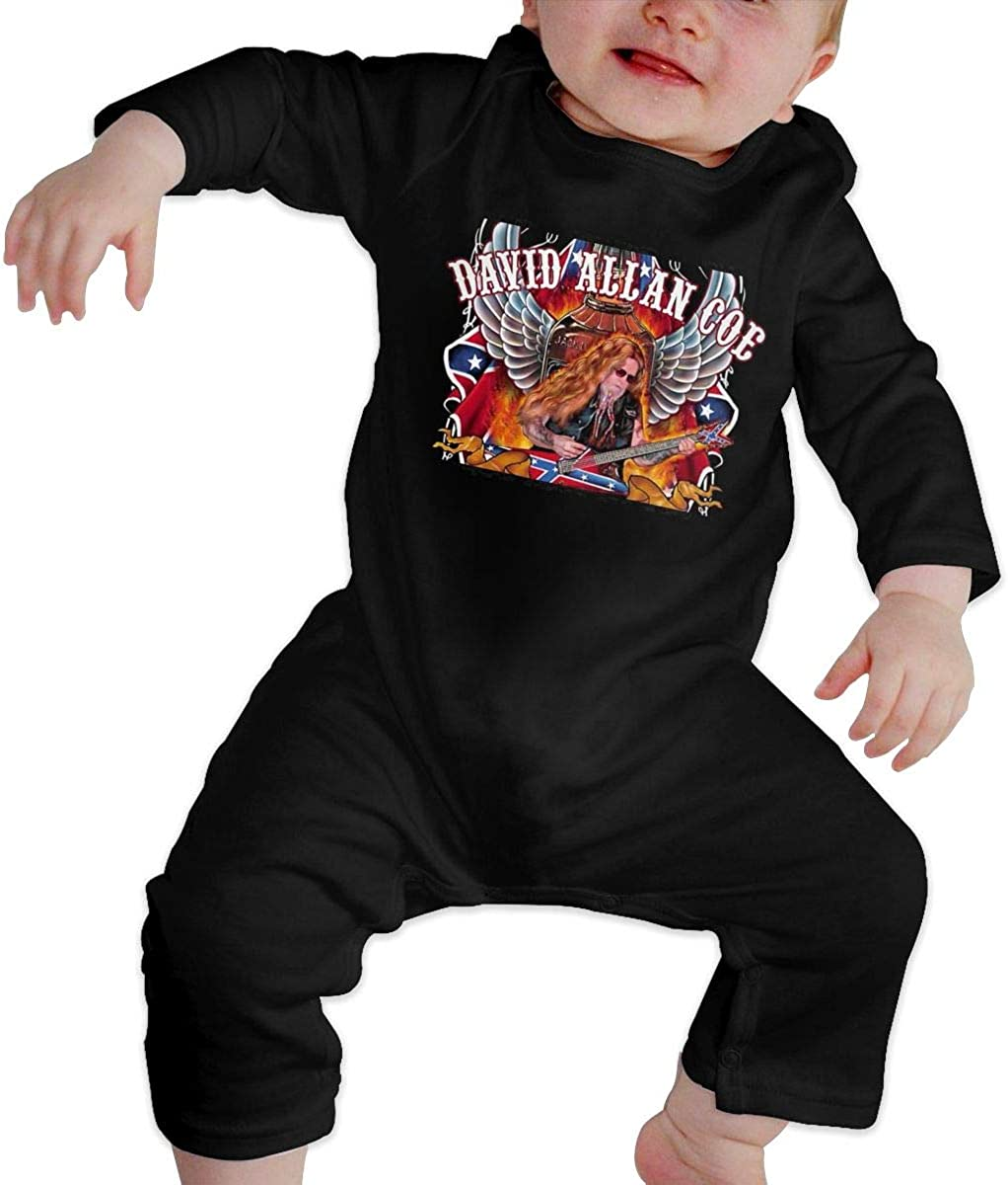 Qq1-asd-store David Allan Coe Boys//Girls Baby Cotton Long Sleeve Romper Warm Bodysuit