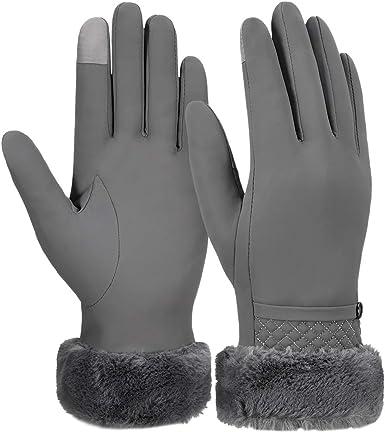 VBIGER Gants Dhiver Chauds /Écran Tactile Gants /Épaissie Gants Temps Froid Casual Gants De Sport En Plein Air pour Femmes