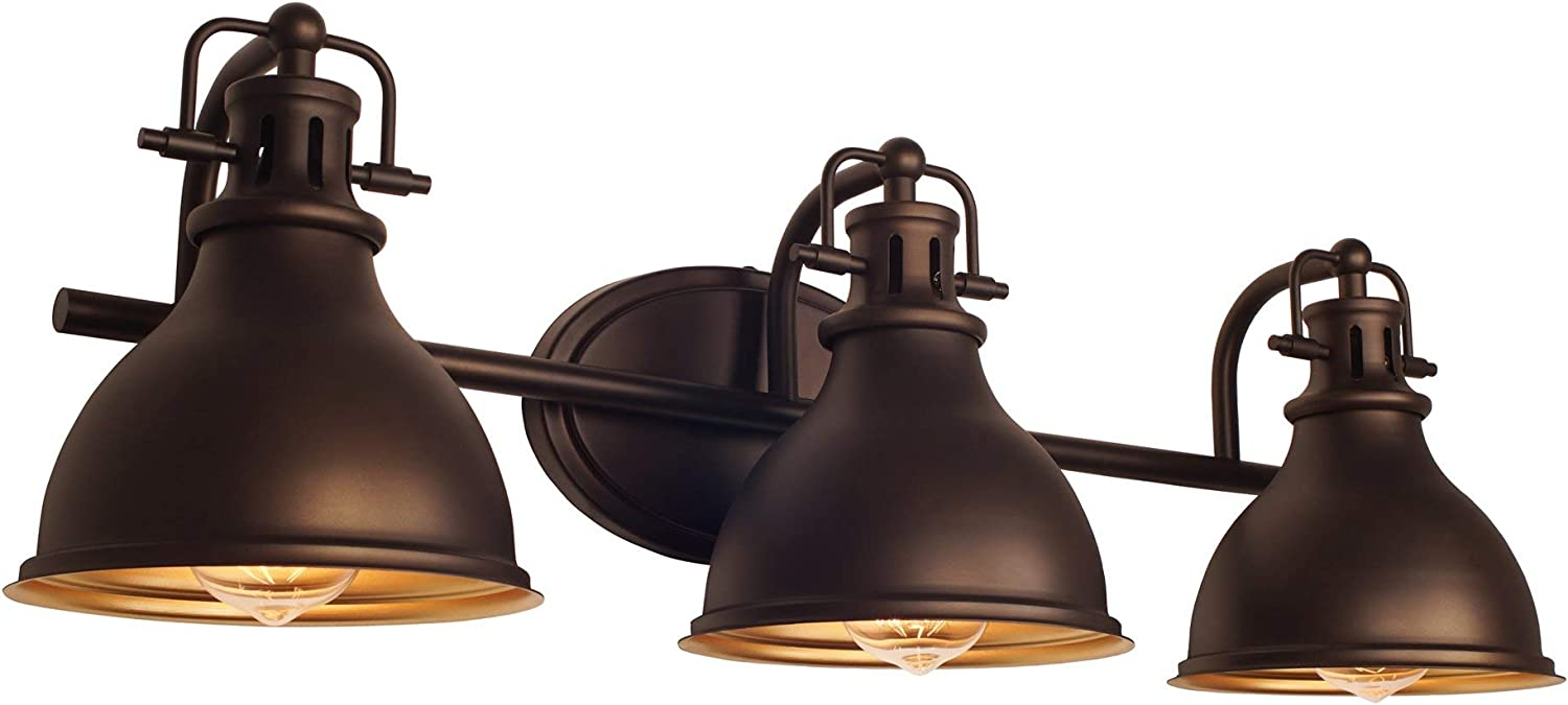 Kira Home Beacon 26.5 3-Light Traditional Vanity Bathroom Light, Oil Rubbed Bronze Finish