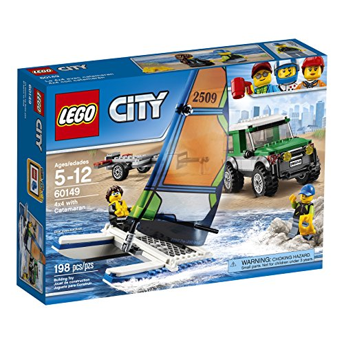 LEGO City Great Vehicles 4x4 with Catamaran 60149 Children's Toy ()