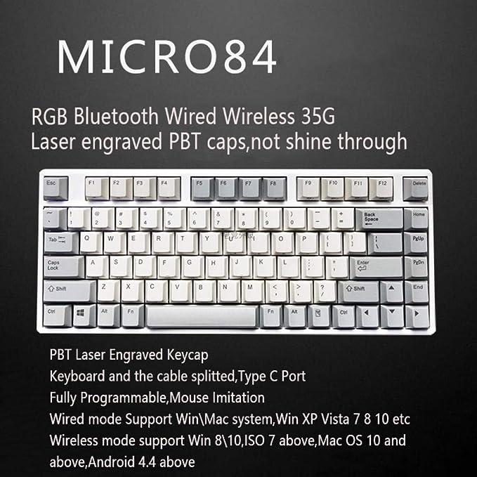 66 75 84 87108 Bluetooth 4.0 USB Modo Dual 35G 45G Teclado ...