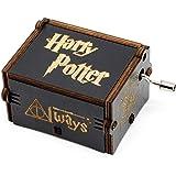 YB-EU Classique de la Main« Harry Potter »à la Main boîte à Musique en Bois Main créative Artisanat en Bois Cadeaux Boîte à Musique