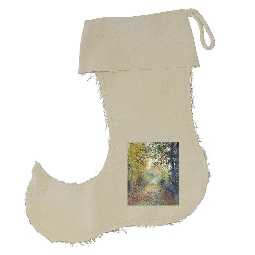 In The Woods (Renoir) Cotton Canvas Stocking Jester Jester Stocking - Small