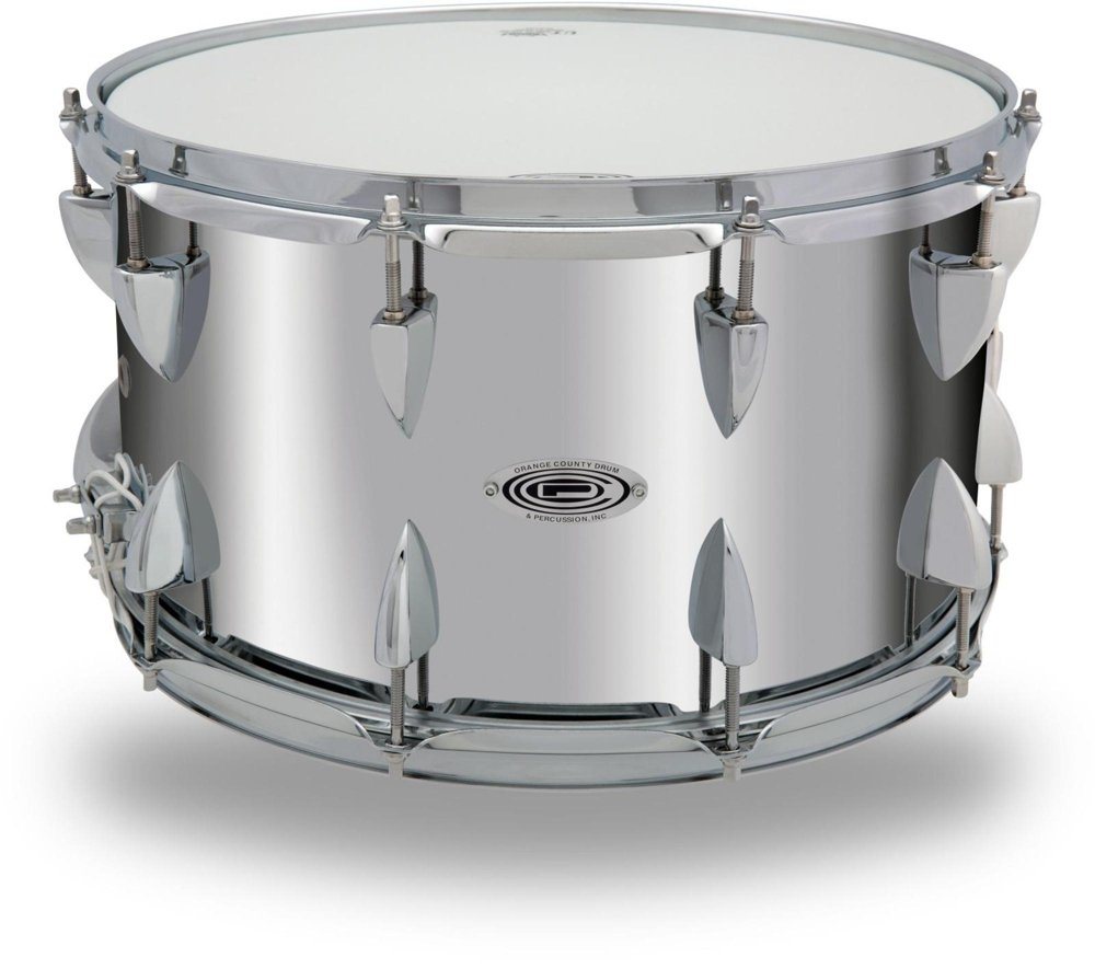 Orange County Drum & Percussion Steel Snare Drum in Chrome Finish 14 x 8 in.