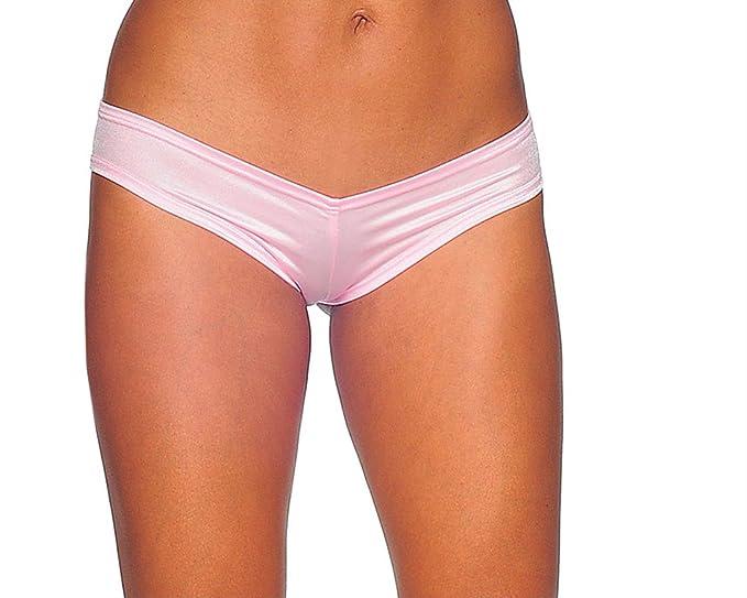 a8867eacbef Amazon.com: BODYZONE Women's Scrunch Back Super Micro Shorts, Baby ...
