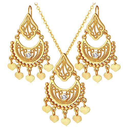 Jewelry Vintage Rhinestone Necklace Earrings